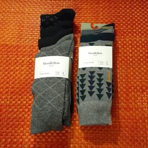 8 Pairs Goodfellow and Co Mens Socks